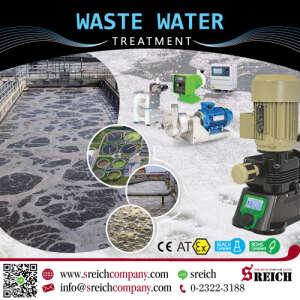 เครื่องจ่ายสารละลาย ฆ่าเชื้อโรคในน้ำ ปั๊มเติมกรด-ด่างบำบัดน้ำเสีย